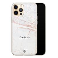 Casimoda iPhone 12 Pro siliconen telefoonhoesje - C'est la vie