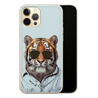 Casimoda iPhone 12 Pro siliconen hoesje - Tijger wild