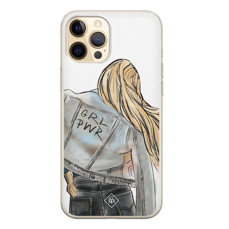 Casimoda iPhone 12 Pro siliconen hoesje - GRL PWR