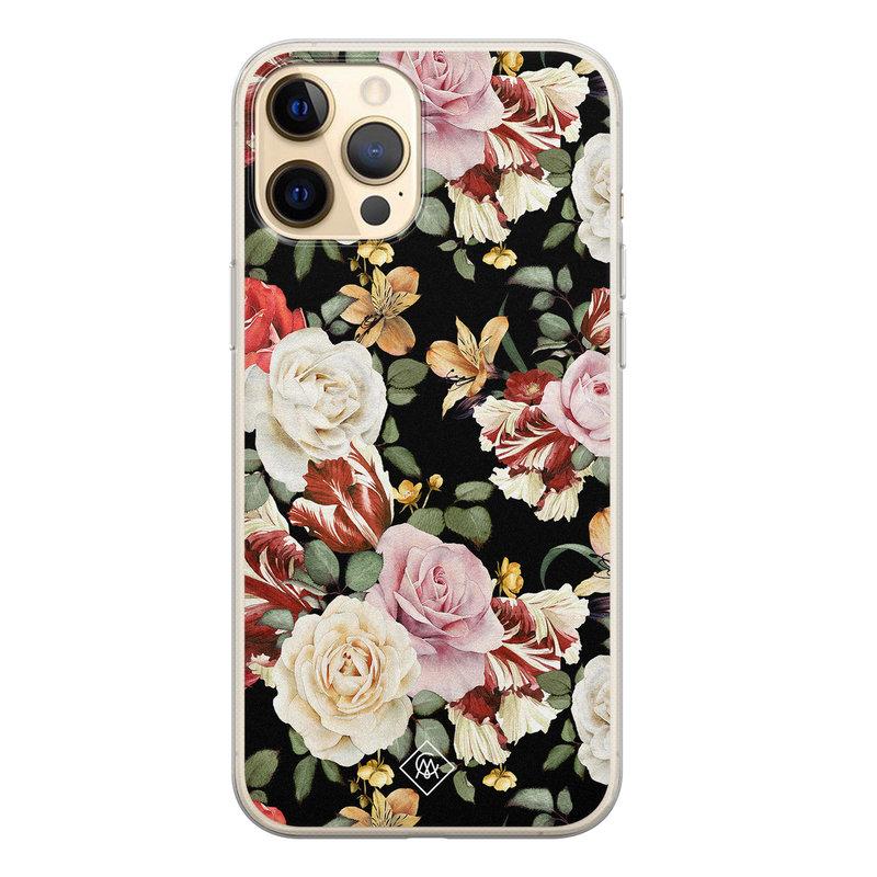 Casimoda iPhone 12 Pro siliconen hoesje - Flowerpower