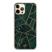 Casimoda iPhone 12 Pro siliconen hoesje - Abstract groen