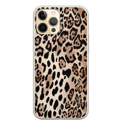 Casimoda iPhone 12 Pro siliconen hoesje - Golden wildcat