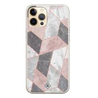 Casimoda iPhone 12 Pro siliconen telefoonhoesje - Stone grid