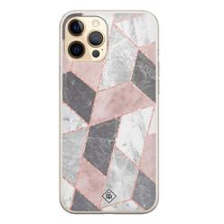 Casimoda iPhone 12 Pro siliconen hoesje - Stone grid