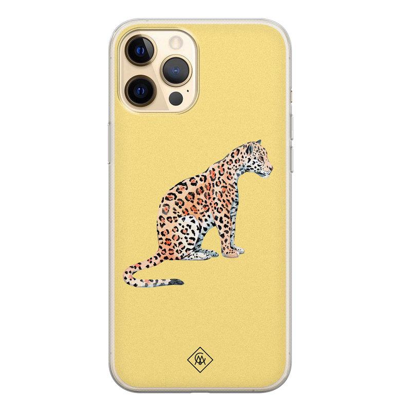 Casimoda iPhone 12 Pro siliconen hoesje - Leo wild