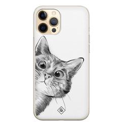 Casimoda iPhone 12 Pro siliconen hoesje - Peekaboo