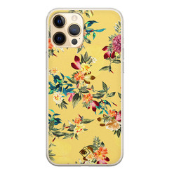 Casimoda iPhone 12 Pro siliconen hoesje - Floral days