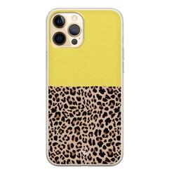 Casimoda iPhone 12 Pro siliconen hoesje - Luipaard geel