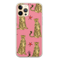 Casimoda iPhone 12 Pro siliconen hoesje - The pink leopard