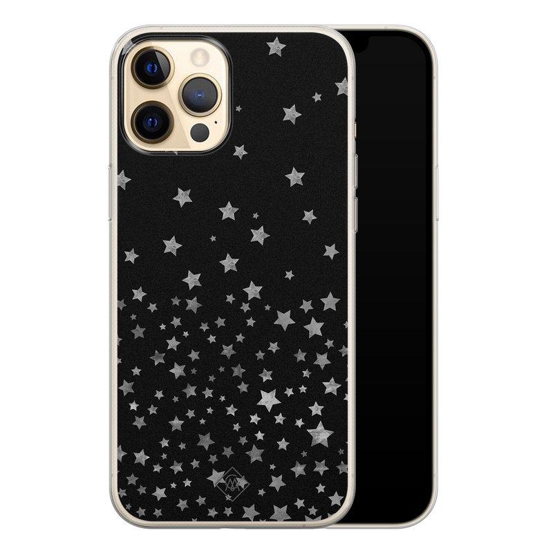 Casimoda iPhone 12 Pro siliconen hoesje - Falling stars