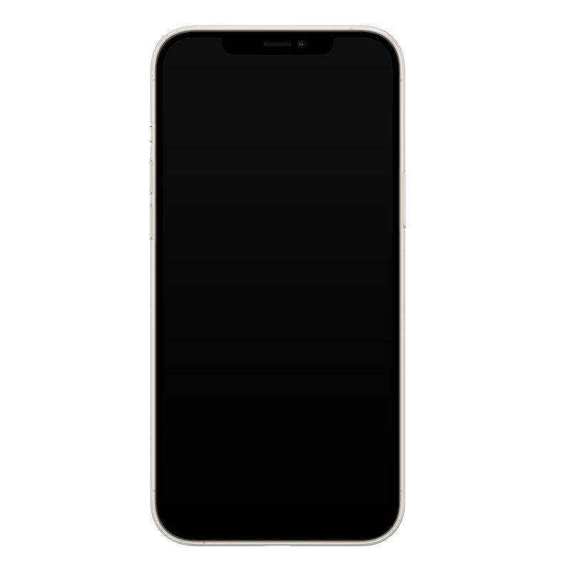 Casimoda iPhone 12 Pro siliconen hoesje - Marmer triangles
