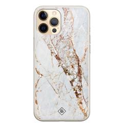 Casimoda iPhone 12 Pro siliconen hoesje - Marmer goud