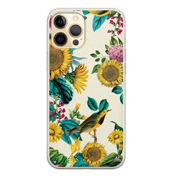 Casimoda iPhone 12 Pro siliconen hoesje - Sunflowers