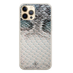 Casimoda iPhone 12 Pro siliconen hoesje - Oh my snake