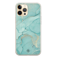 Casimoda iPhone 12 Pro siliconen hoesje - Touch of mint