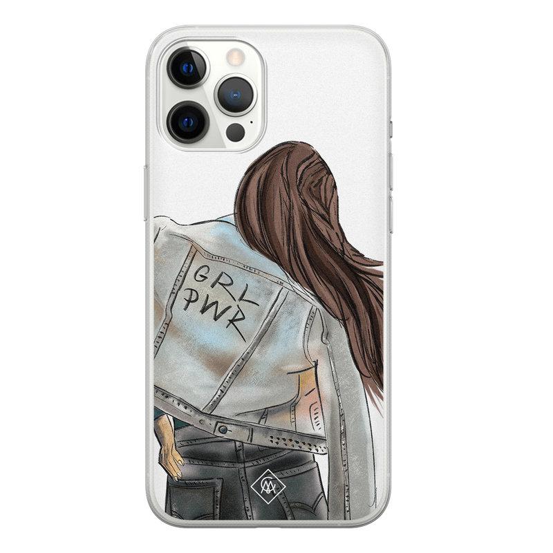 Casimoda iPhone 12 Pro Max siliconen hoesje - GRL PWR