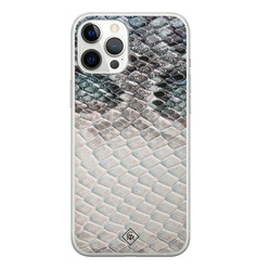 Casimoda iPhone 12 Pro Max siliconen hoesje - Oh my snake