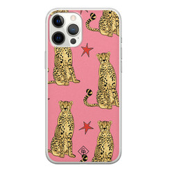 Casimoda iPhone 12 Pro Max siliconen hoesje - The pink leopard