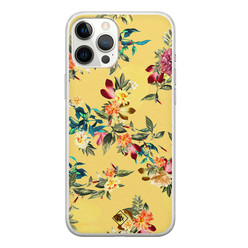 Casimoda iPhone 12 Pro Max siliconen hoesje - Floral days