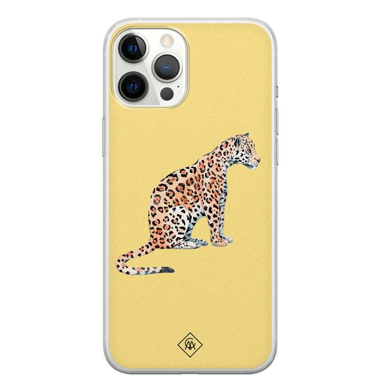Casimoda iPhone 12 Pro Max siliconen hoesje - Leo wild