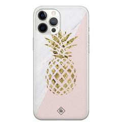 Casimoda iPhone 12 Pro Max siliconen hoesje - Ananas