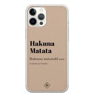 Casimoda iPhone 12 Pro Max siliconen hoesje - Hakuna matata