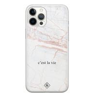 Casimoda iPhone 12 Pro Max siliconen telefoonhoesje - C'est la vie