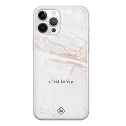 Casimoda iPhone 12 Pro Max siliconen hoesje - C'est la vie