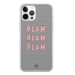 Casimoda iPhone 12 Pro Max siliconen hoesje - Blah blah blah