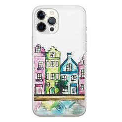 Casimoda iPhone 12 Pro Max siliconen hoesje - Amsterdam