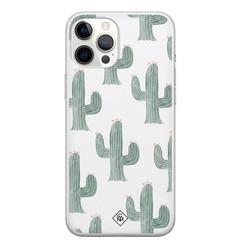 Casimoda iPhone 12 Pro Max siliconen hoesje - Cactus print
