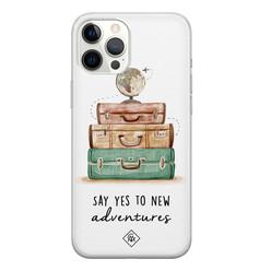 Casimoda iPhone 12 Pro Max siliconen hoesje - Wanderlust