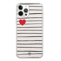 Casimoda iPhone 12 Pro Max siliconen hoesje - Heart queen