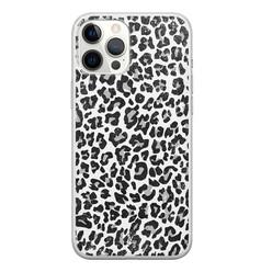 Casimoda iPhone 12 Pro Max siliconen hoesje - Luipaard grijs