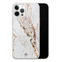 Casimoda iPhone 12 Pro Max siliconen hoesje - Marmer goud