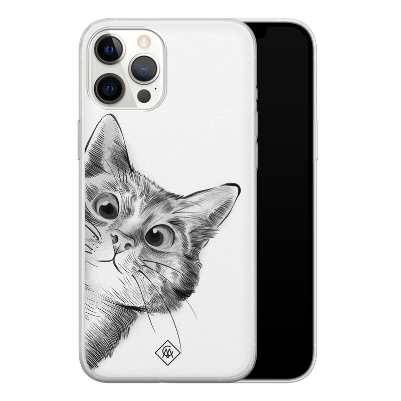 Casimoda iPhone 12 Pro Max siliconen hoesje - Peekaboo