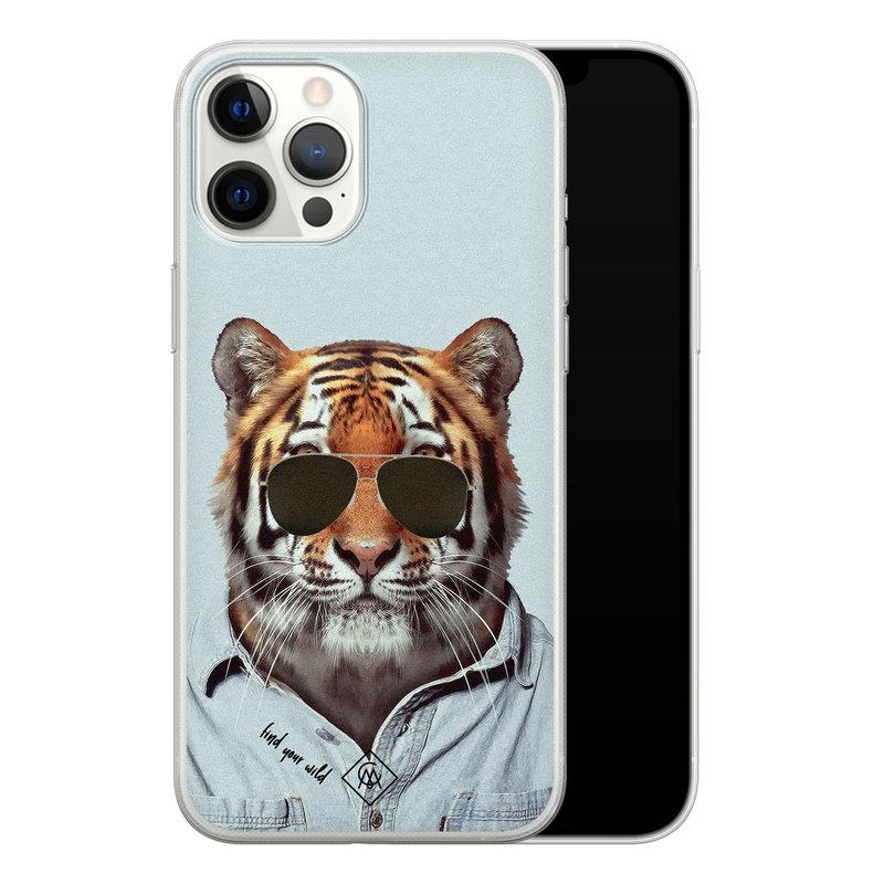 Casimoda iPhone 12 Pro Max siliconen hoesje - Tijger wild