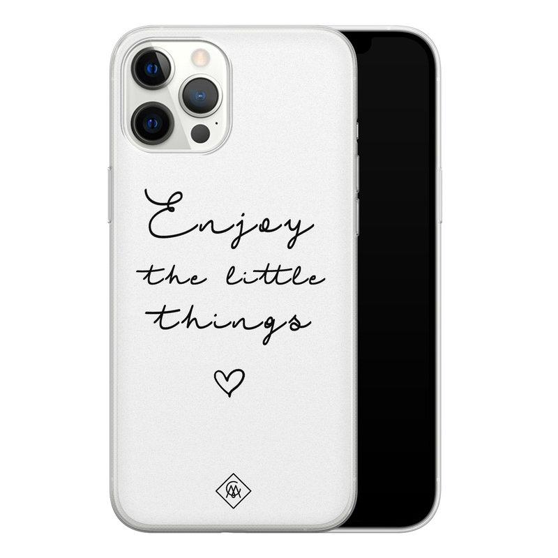 Casimoda iPhone 12 Pro Max siliconen hoesje - Enjoy life