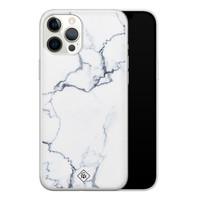 Casimoda iPhone 12 Pro Max siliconen hoesje - Marmer grijs