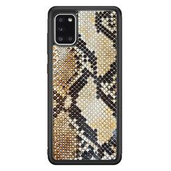 Casimoda Samsung Galaxy A31 hoesje - Golden snake