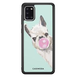 Casimoda Samsung Galaxy A31 hoesje - Retro lama