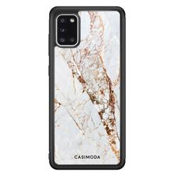 Casimoda Samsung Galaxy A31 hoesje - Marmer goud