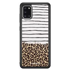 Casimoda Samsung Galaxy A31 hoesje - Leopard lines