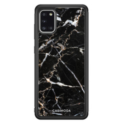 Casimoda Samsung Galaxy A31 hoesje - Marmer zwart