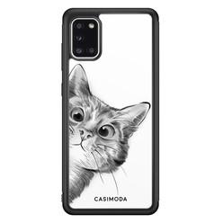 Casimoda Samsung Galaxy A31 hoesje - Peekaboo