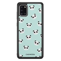 Casimoda Samsung Galaxy A31 hoesje - Panda print