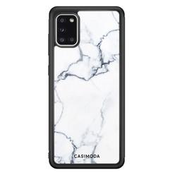 Casimoda Samsung Galaxy A31 hoesje - Marmer grijs