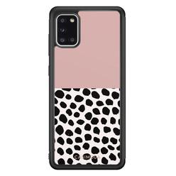 Casimoda Samsung Galaxy A31 hoesje - Pink dots