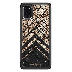 Casimoda Samsung Galaxy A31 hoesje - Chevron luipaard