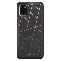 Casimoda Samsung Galaxy A31 hoesje - Marble grid